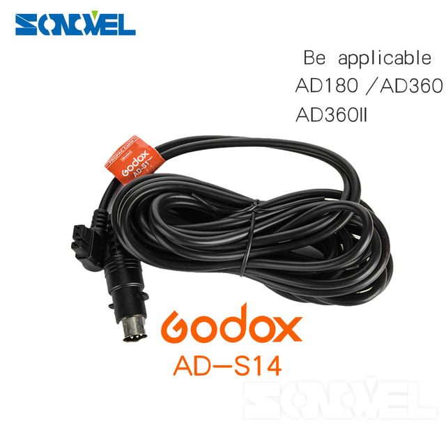 Godox AD-S14 5m Length Extension Power Cable for WITSTRO AD180 AD360 Flash Light