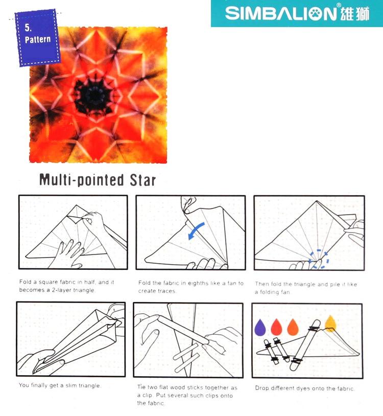 material de papel pode DIY 6 cor da tintura