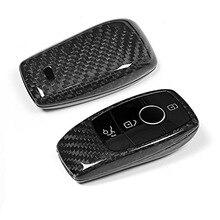 Gerçek Karbon fiber Araba Anahtarı Kabuk Kapak Trim Için Mercedes benz W222 S Sınıfı E Sınıfı W213 C Sınıfı w205 GLC X253