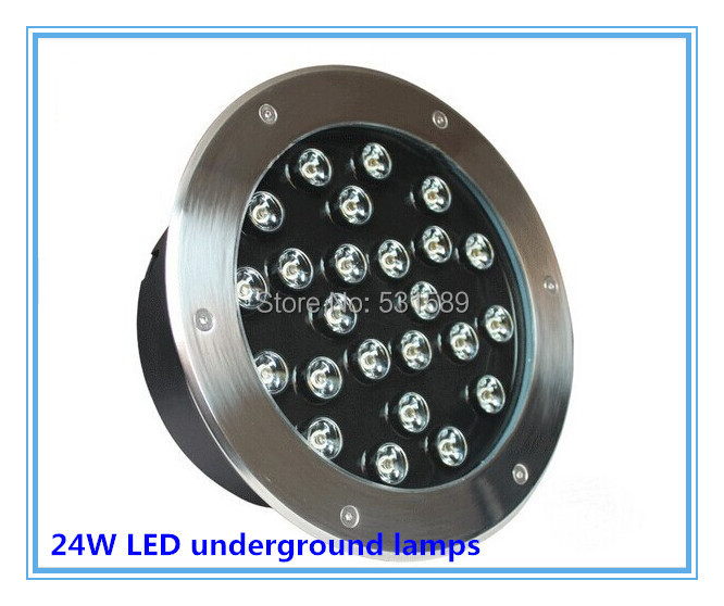 free shipping 24W LED underground lamps Buried lighting floor lamp,waterproof IP65, AC85-265V 10pcs lot 50w cob underground floor recessed lamp foot lamp led underground lamps buried ground12v 24v 85 265v buried lights