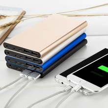 YOTEEN 12000mAh Card Energy Financial institution Cell Li-polymer Battery Quick Charging Backup Battery for iPhone Samsung Be aware 5 S6 + Flashlight