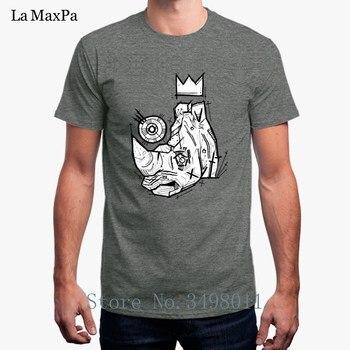 Camiseta de rey Rhino estampada para hombre, Camiseta Indumentaria de algodón de verano de talla grande 3xl, Camiseta para hombre, camisetas para hombre, Camiseta básica