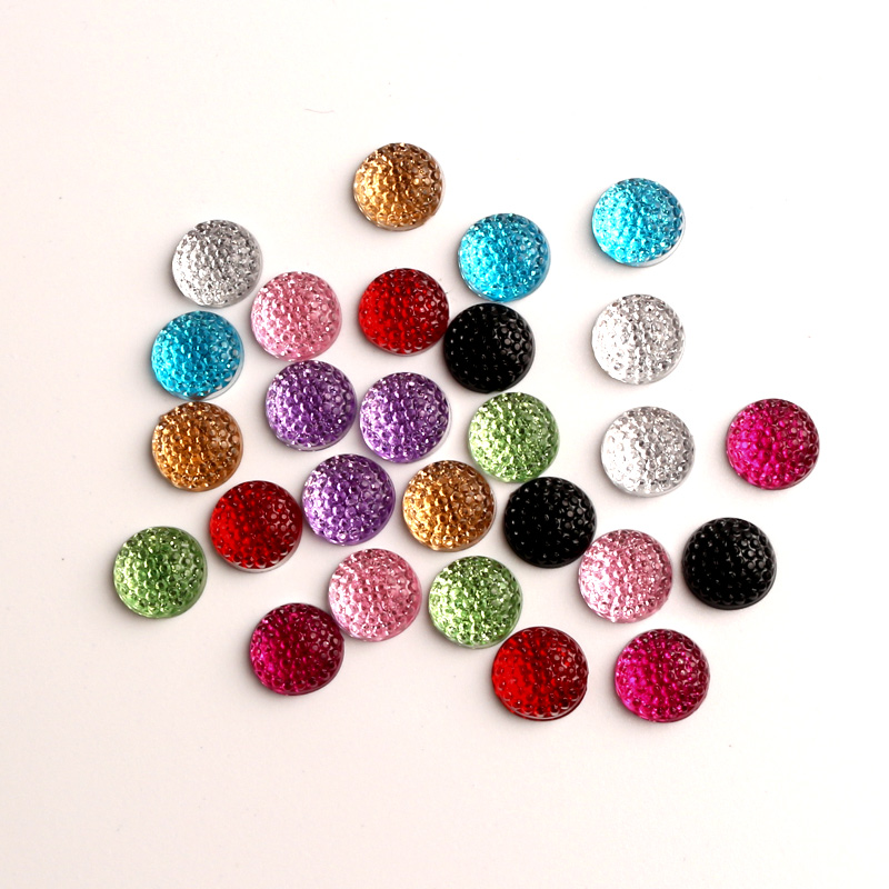 LF 100Pcs Resin Bling Round 12mm Decoration Crafts Flatback Cabochon Embellishments For Scrapbooking Kawaii Cute Diy Accessories in Embellishments from Home Garden