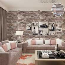 Kitchen 3D Effect Embossed Brick Stone Wallpaper Vinyl Nature Brown Grey Brick Wall Paper Roll For Bedroom Walls Covering