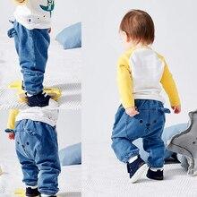 Джинсы для маленьких мальчиков и девочек от 6 до 24 месяцев, джинсовые штанишки для новорождённого ребенка, шаровары, штаны для малышей, штаны, детская одежда