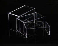 Clear U Shaped Acrylic Display Risers Set Of 3 Showcasing Jewelry Figurines Collection Stand Holder
