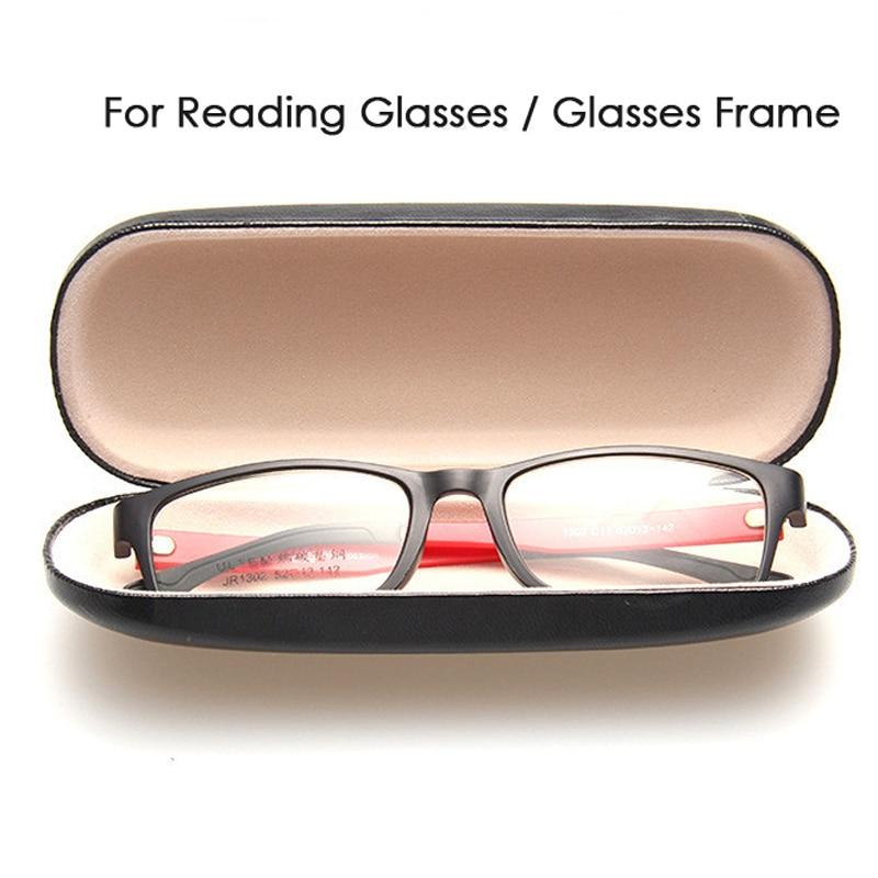 Venta caliente Caja de Gafas de Cuero Para Hombres Caja de Gafas de - Accesorios para la ropa - foto 2