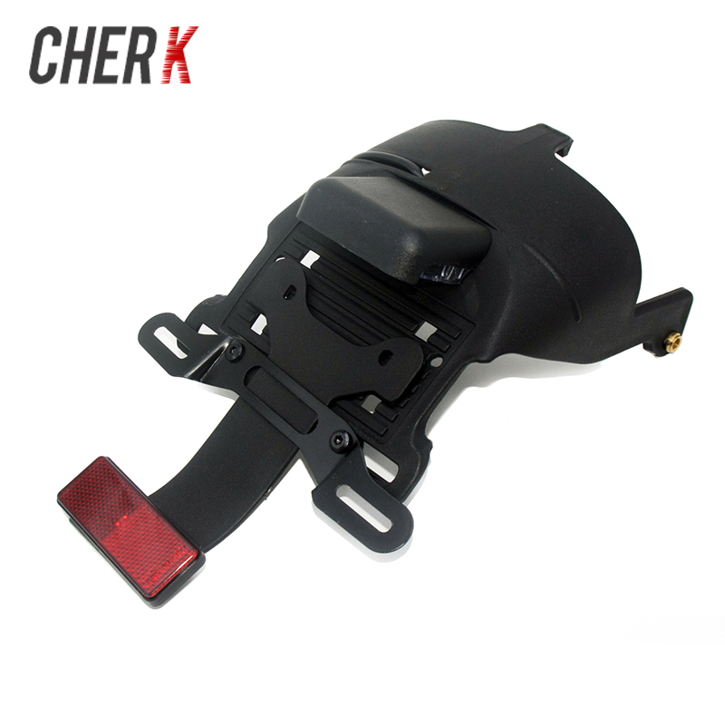 Motorcycle Black 12V Rear Fender Mount License Plate LED Light For Harley Sportster XL 883 1200 48 04-14 Motorcycle Tail Light цены