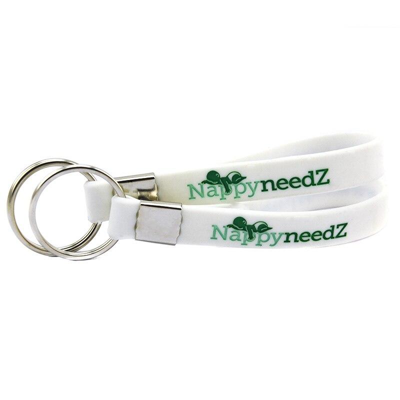 OneBandaHouse пользовательский дизайн силиконовый браслет брелок