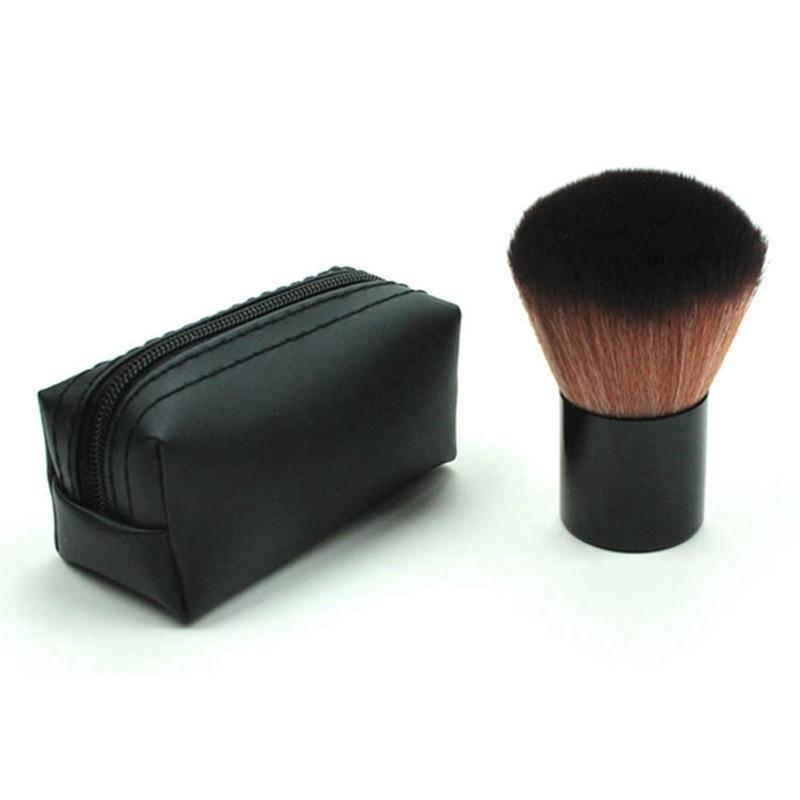 1pc Black Makeup Brushes Powder Cosmetic Brush Face Blush Contour Brush Brush Makeup Tools With Bag