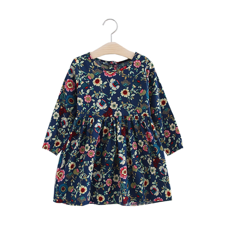 Kids Dresses for Girls 2018 New Summer Autumn Long Sleeve Girls Party Clothes Flower Children Princess Dresses for Girls dresses for girls high quality children dress long sleeve kids clothes summer dress flower girls dresses for party and wedding