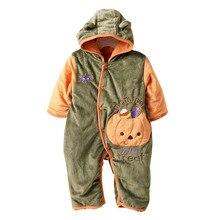 2014 Новый осени Зимы толстый хлопок ребенка Комбинезон мальчиков комбинезон Теплый детская одежда dr0006-147