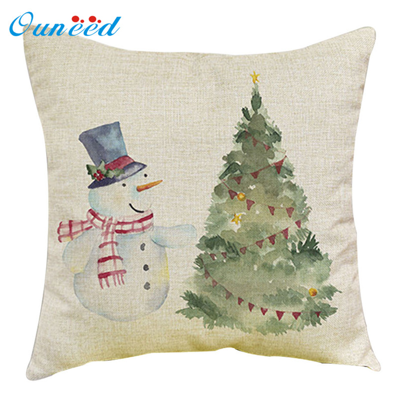 45x45cm santa claus printing cheap decorative christmas cushion cover for sofa decorative pillows capa de almofada u70608 in cushion cover from home