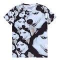 ISTider Marca New Style Verão camiseta Roupas Casuais Camiseta Manga Curta 3D Camiseta Animais Husky Cão Akita Impresso Camisetas