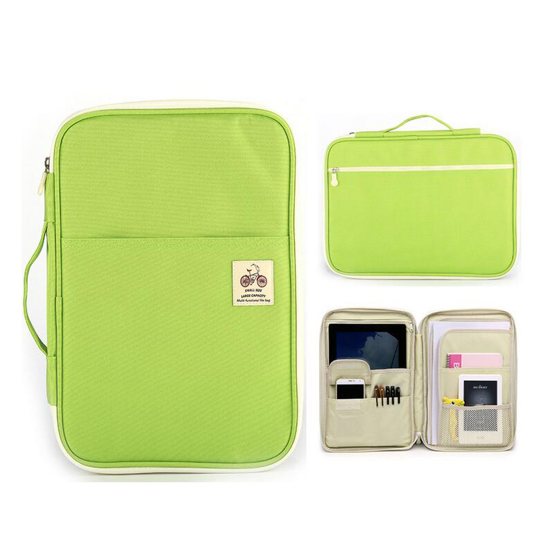 Multi-functional A4 Document bags Filing Products Portable Waterproof Oxford Cloth Storage bag For Notebooks Pens iPad Computer
