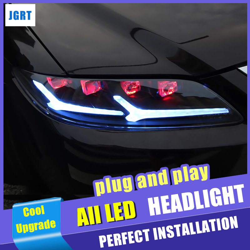2005 2013 new headlights For Mazda 6 All LED head light M6 bi LED lens Projector