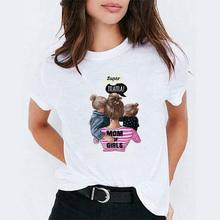 Super Mama T shirt kobiet dzień matki Harajuku Kawaii biały t-shirt 2019 lato T Shirt Tee Shirt femme Mama topy koreański ubrania tanie tanio Kobiety Tees Poliester COTTON Na co dzień Suknem Krótki NONE Stałe O-neck REGULAR camiseta mujer Gokntee mom t-shirt for women