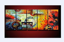 5 pieces NO frame Large canvas Modern hand-painted Art Oil Painting Wall Decor