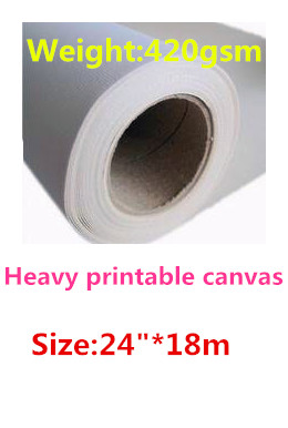 24in Fine Art Inkjet Canvas, 420gsm Matte Polycotton Blend Canvas To Have A Long Historical Standing
