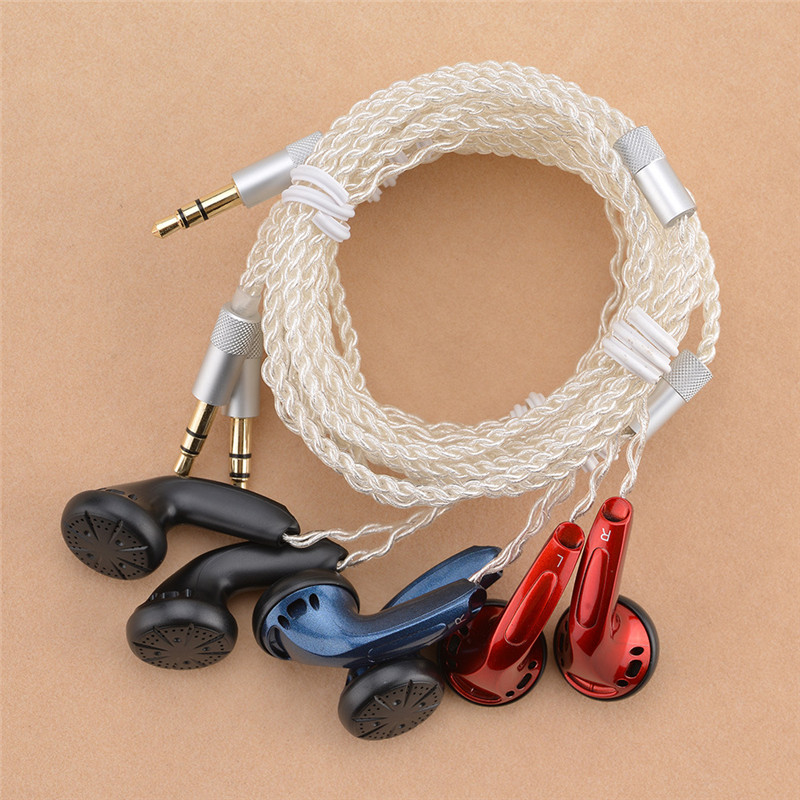 10 pcs YMHFPJ Diy MX500 In ear Earphones Flat Head Plug DIY Earphone HiFi Bass Earbuds DJ Earbuds Heavy Bass Sound Quality