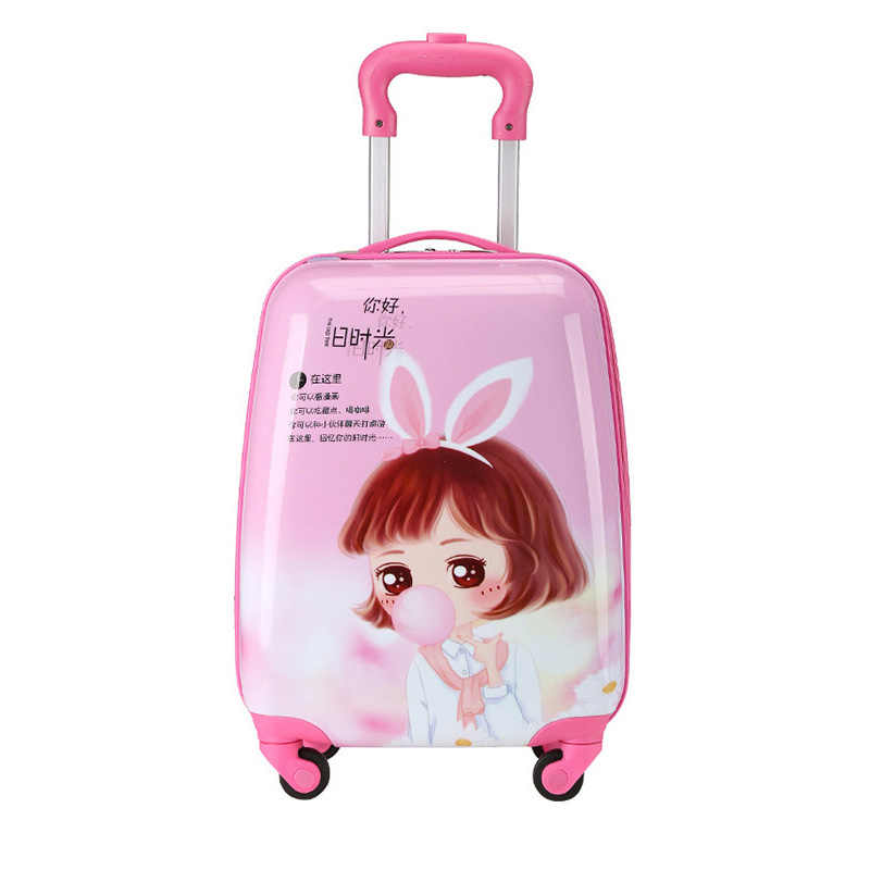 719bd33ac01c Cartoon Kid's Travel Trolley Bag Sac Enfant Suitcase for Kids Children  Rolling Case Travel Traveling Luggage Bags with Wheels
