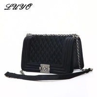 LUYO 2017 Fashion Winter Velvet Chain Women Messenger Bags Female Leather Suede Designer Handbags High Quality Channels Shanel