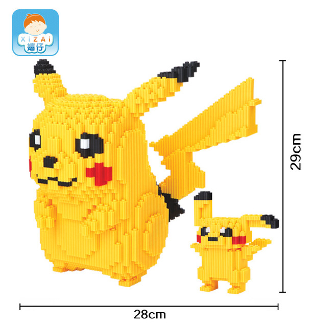 Xizai Big size Connection Blocks Cute Anime Model DIY Building Bricks Cartoon Auction Figures Assembly Toys for Children Gifts