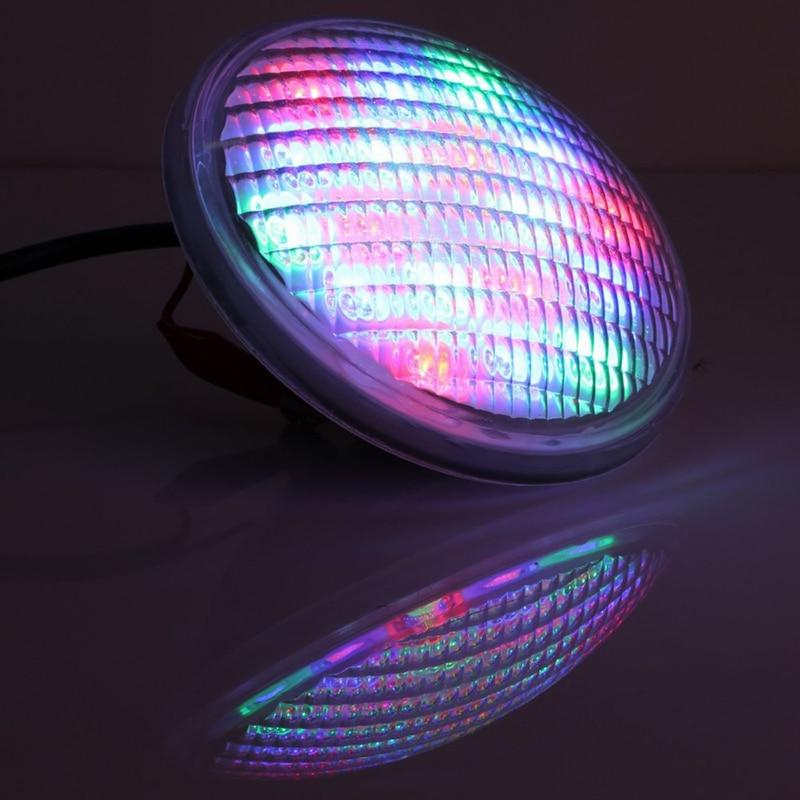LED PAR56 pool light 54W 12V 24V RGB IP68 18led Swimming Pool Light ...