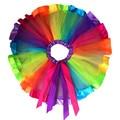 New Fashion Girls Petty Rainbow Skirt Bowknot Children Skirts Hot Tutu Kid Skirts Ball Gown Dancewear Krystal