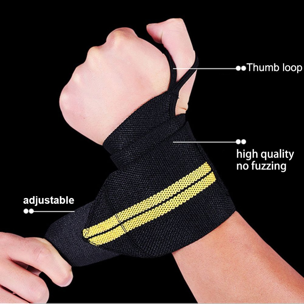 Weight Lifting Wrist Straps Gym Training Support Fitness Powerlifting Wraps Mitt