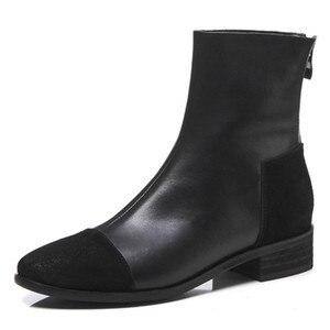 Image 2 - FEDONAS Fashion Women High Heeled Pumps Back Zipper Autumn Winter Warm Short Ankle Boots Female Casual Night Club Shoes Woman