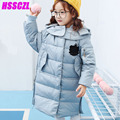2016 New Girls Down Jacket Long Section Boy Down Jacket Thicker Korean Version Coat Hooded Overcoat Outerwear Thicken