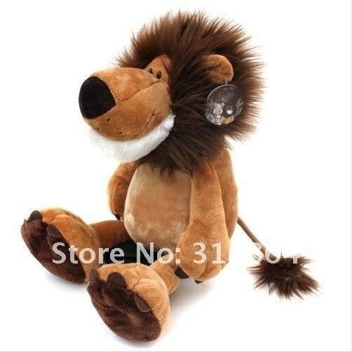 90 cm la série jungle afrique lion peluche jouet doux en peluche cadeau de noël vente entière et au détail