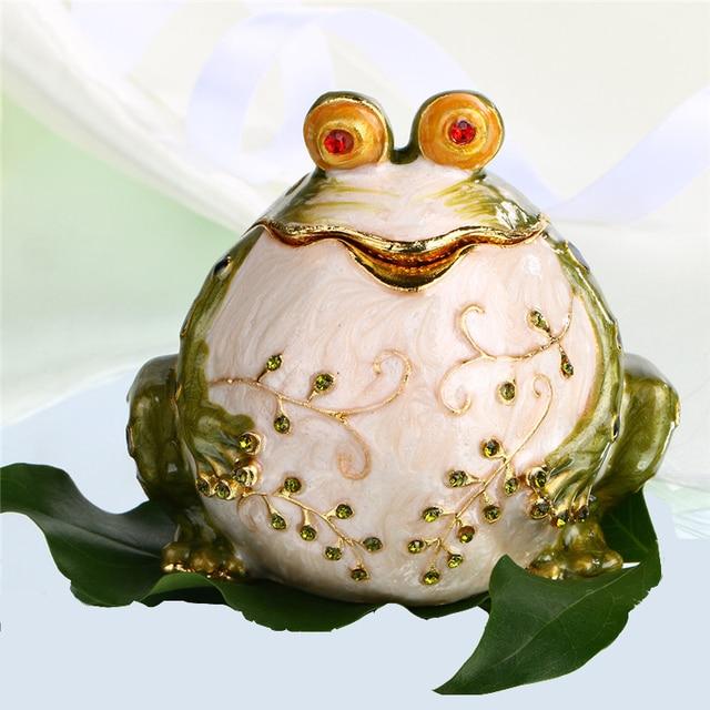 54 Metal Figurine Potbelly Frog Trinket Box Ring Holder Jewelry