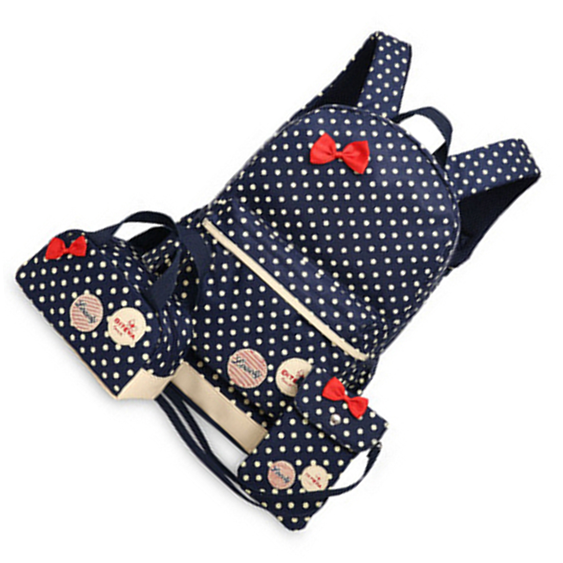 все цены на 5 pcs of 3 Pcs/Set New waterproof Girl School Bags For Teenagers backpack women shoulder bags, Dark Blue онлайн