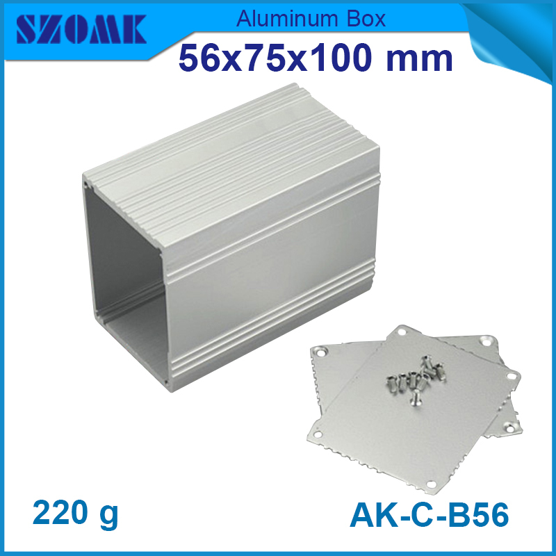 4pcs/lot aluminum electronic enclosures 56x75x100 mm silvery aluminum case boxes ip54 aluminium control boxes for pcb box image