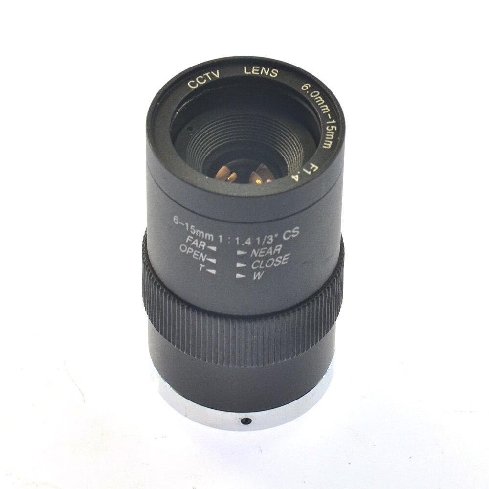 HD Manual Zoom Focus Lens for Industrial Camera 6-15mm CS Mount CCTV Lens for Industrial Microscope CCTV Camera купить cs 1 6 за 15 рублей