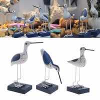 Holz Navy Seevögel Mittelmeer Stil Skulptur Hause Dekoration Handwerk