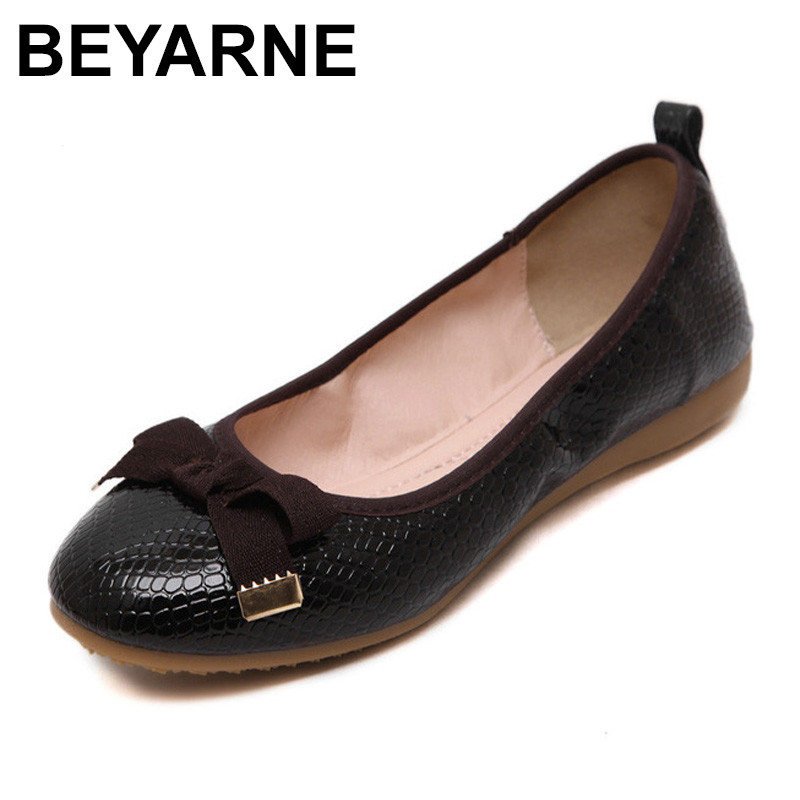 BEYARNE  Fashion Women's Flats Hotsales Round Toe Shoes Women Summer Autumn Ladies Ballet Flat Zapatos Mujer Casual Single Shoes dreamshining summer women ballet flats round toe slip on shoes cut outs flats shoes white sandals woman loafers zapatos mujer