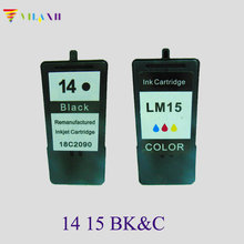 vilaxh 2pcs Cartridge For Lexmark 14 15 Ink Cartridges for Z2300 Z2320 X2650 X2600 X2670 Printer ink