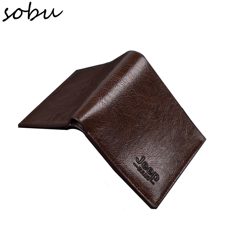 2018 NEW Vintage slim Wallet Handmade Leather Men Wallets Multi-Functional Coin Purse PU Leather Short Wallets For Men D015