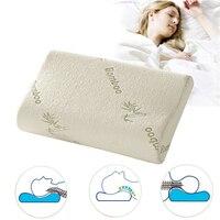 Sleep Neck Massage Slow Rebound Memory Foam Pillow Comfort Orthopedic Bamboo Fiber Sleeping Pillow Memory Foam