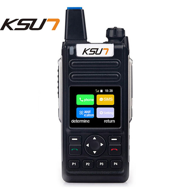 US $97 02 10% OFF|Mobile Phone Radio KSXQ6 ZY 4G Calling WIFI connection  National intercom Walkie Talkie With Sim Card-in Walkie Talkie from