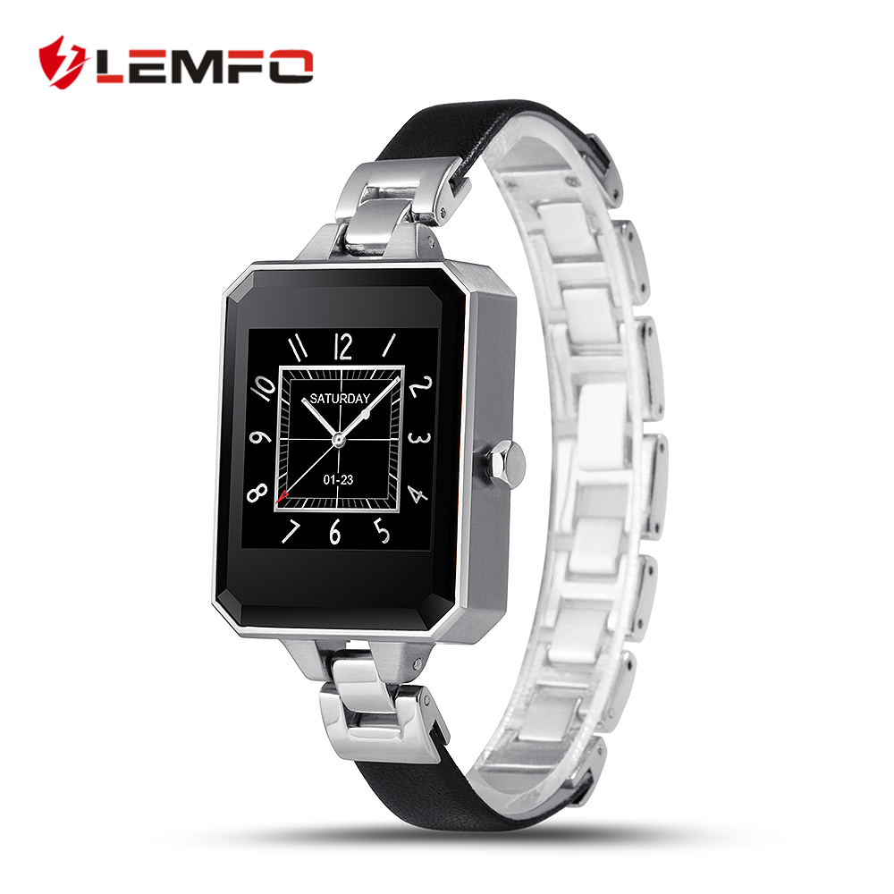Female Smart Watch LEM2 Clock Sync Notifier Bluetooth Connectivity For apple Android Smartwatch Phone For IOS android OS smartwatch gt08 smart watch bluetooth clock sync notifier support sim card bluetooth connectivity for ios iphone android phone
