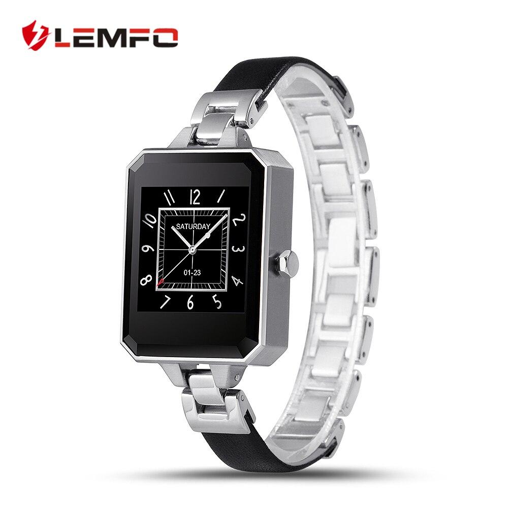 imágenes para Mujer Elegante Reloj de Sincronización de Reloj LEM2 Notificador Conectividad Bluetooth Para apple Android Smartwatch Teléfono Para IOS android OS