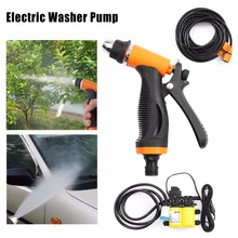 Car Washer 12V 100W High Pressure Car Electric Washer Pump Kits + Car Cigarette Charger with 6.5M Line