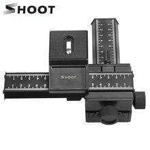 Shoot tripé foco para fotografia macro, trilho deslizante para canon sony nikon pentax macroshot, cabeça de tripé com parafuso para dslr, 4 vias câmera fotográfica para câmera