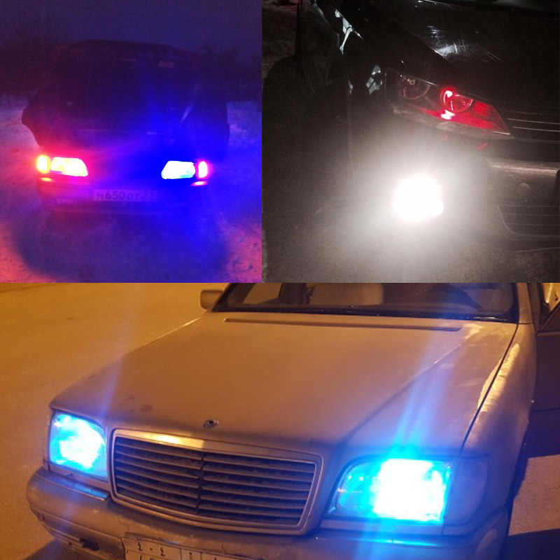 2 個の RGB T10 W5W Led 194 168 W5W 5050 SMD 車のドーム読書ライト自動車ウェッジランプ RGB LED 電球とリモートコントローラ