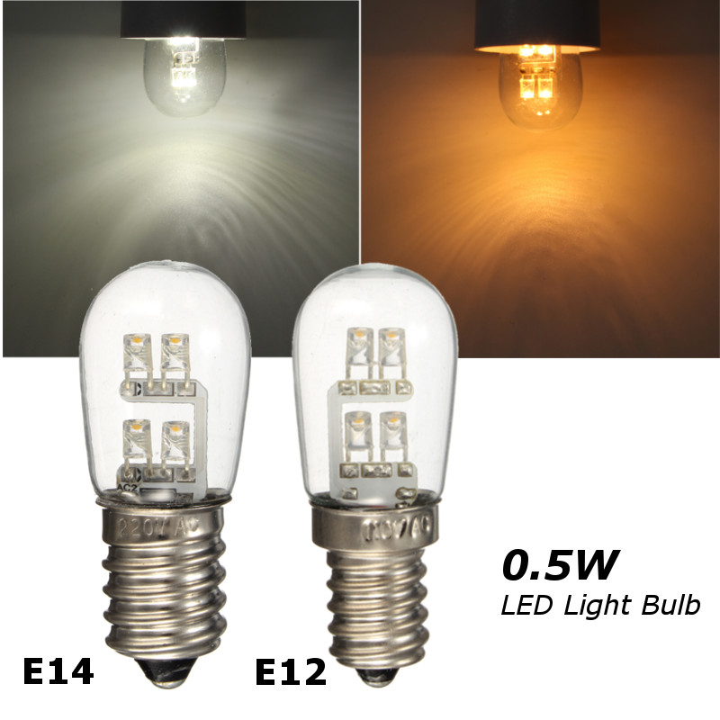 0.5W 4 LED Light Bulb E12 E14 Base Candelabra Candle Light LED Lamp ...