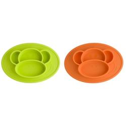 Children's Silicone Non-Slip Feeding Plate One-piece Compartment Sucker Placemat Baby Oil Pollution Solid Feeding Bottle Plate